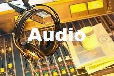 audio headphones in recording studio