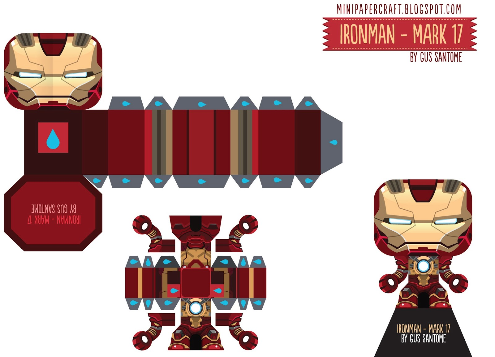Mini papercraft ironman 3 mark 17 35 38 - Mini iron man ...