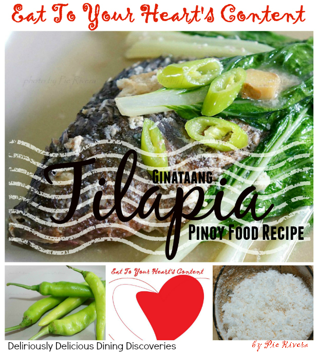 Eat to your hearts content deliriously delicious dining pinoy food recipe ginataang tilapia forumfinder Gallery