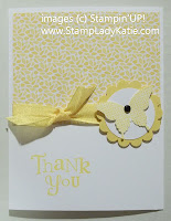 Thank-you card decorated with a punched butterfly and Designer Series Paper