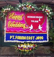 Bunga Papan Pernikahan ke Gedung Monte Carlo Sport Club Bogor