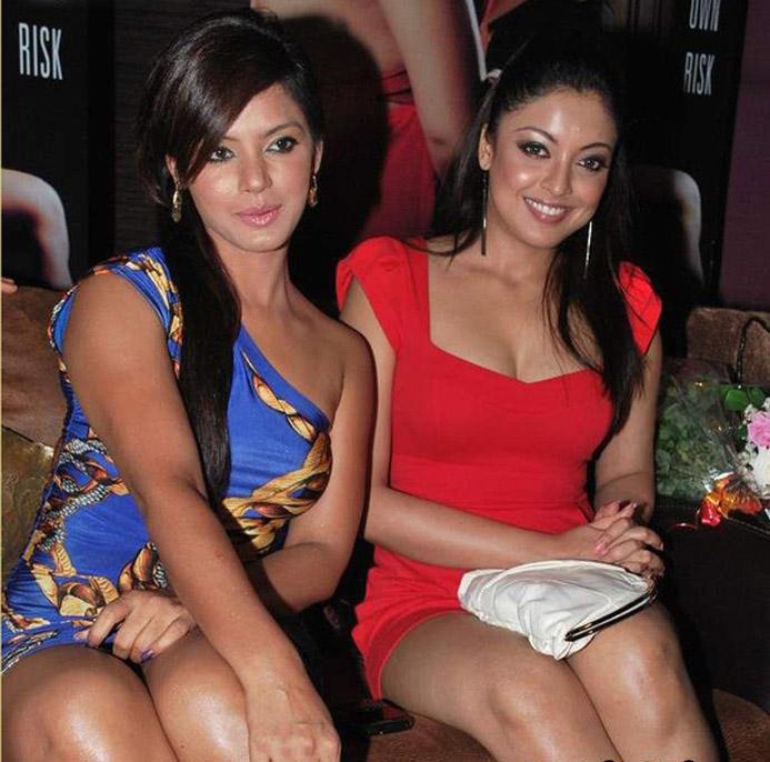 Tanushree Dutta  amp  Neetu Chandra Hot in Apartment Bash Pics jpgNeetu Chandra Hot In Apartment