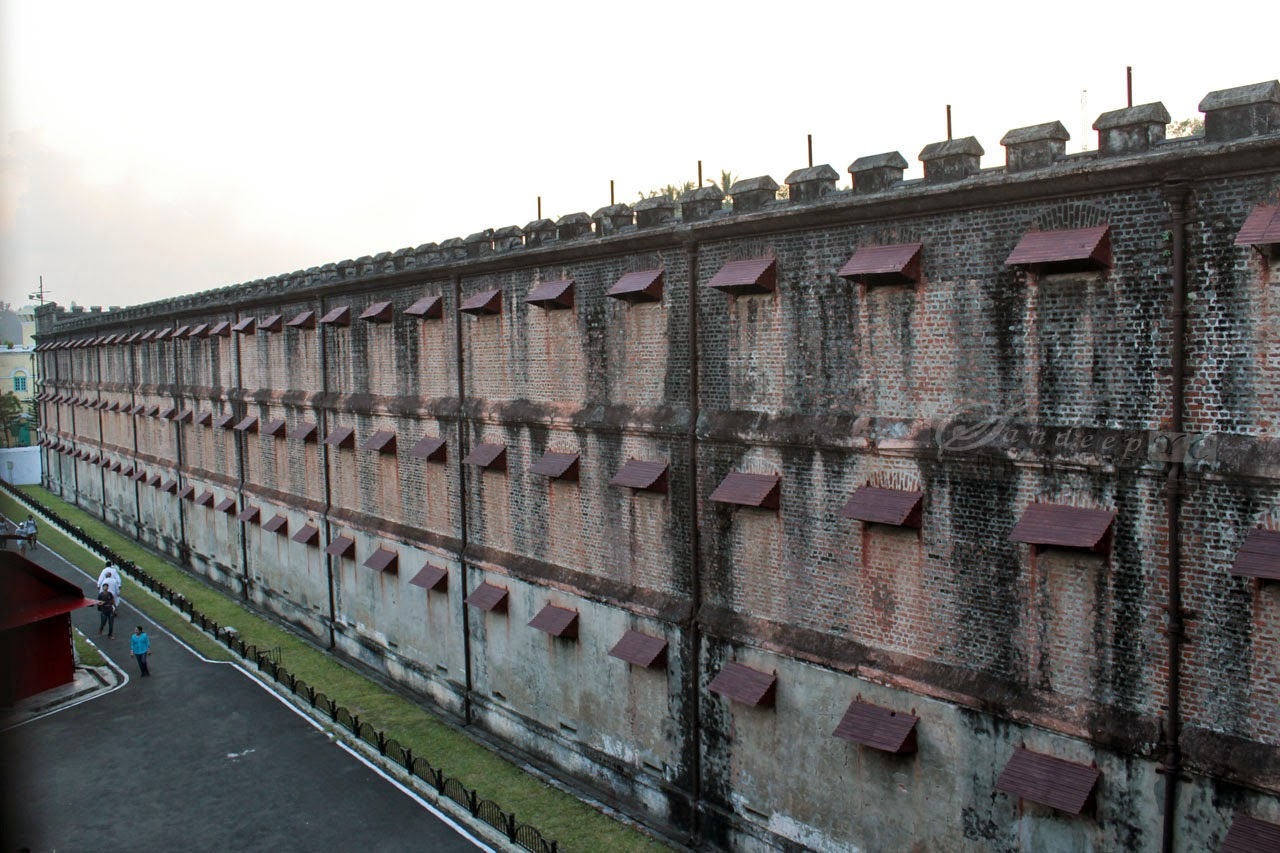Backside of the cellular jail wing