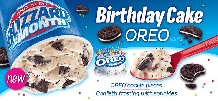 food and ice cream recipes NEWS The Birthday Cake Oreo Blizzard