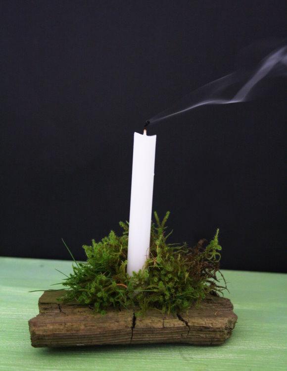 Selbgst hergestellter DIY Kerzenhalter