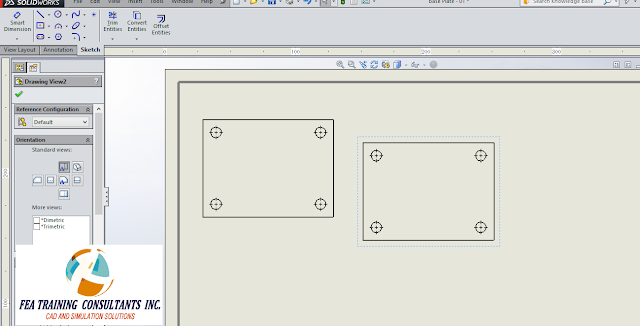 drawing view solidworks
