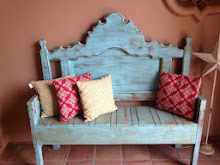 Shabby Chic Blue Bench~SOLD
