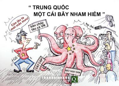 """Trung quốc Gây hấn, tạo cớ cho chiến tranh bằng cách bắn vào tàu của ngư dân Việt Nam. Nếu """"đánh"""", Việt Nam sẽ mắc mưu Trung Quốc"""