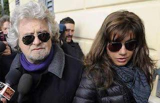 Beppe Grillo e Parvin Tadjk