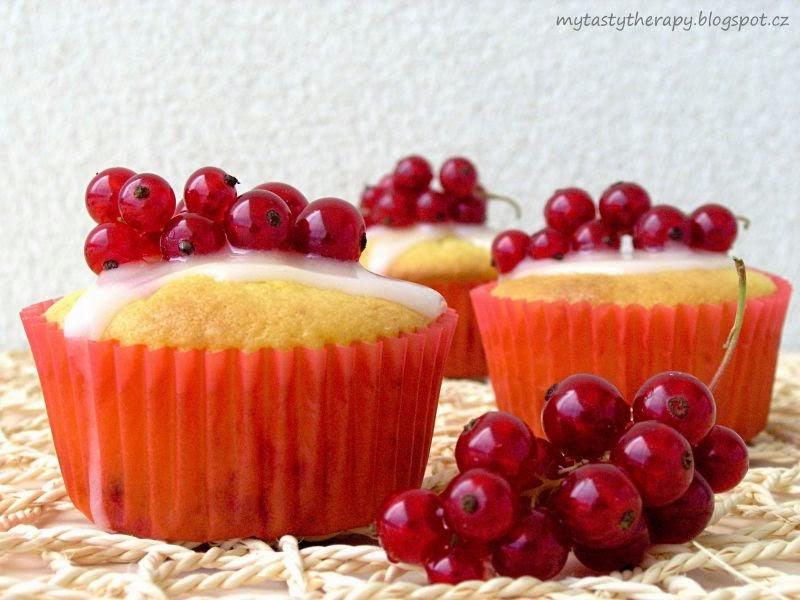 Rybízové cupcakes