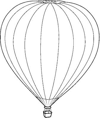 Desenho de balão para colorir