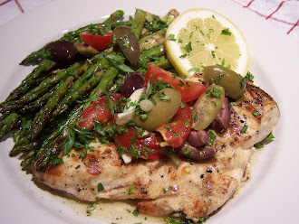 Grilled Chicken & Asparagus Provencal