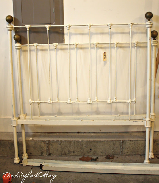 iron bed makeover
