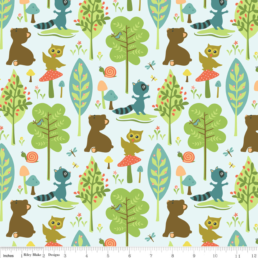 Woodland animal baby gift set andrea lynn handmade for Baby fabric uk