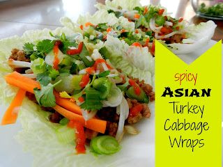 Spicy Asian Turkey Cabbage Wraps