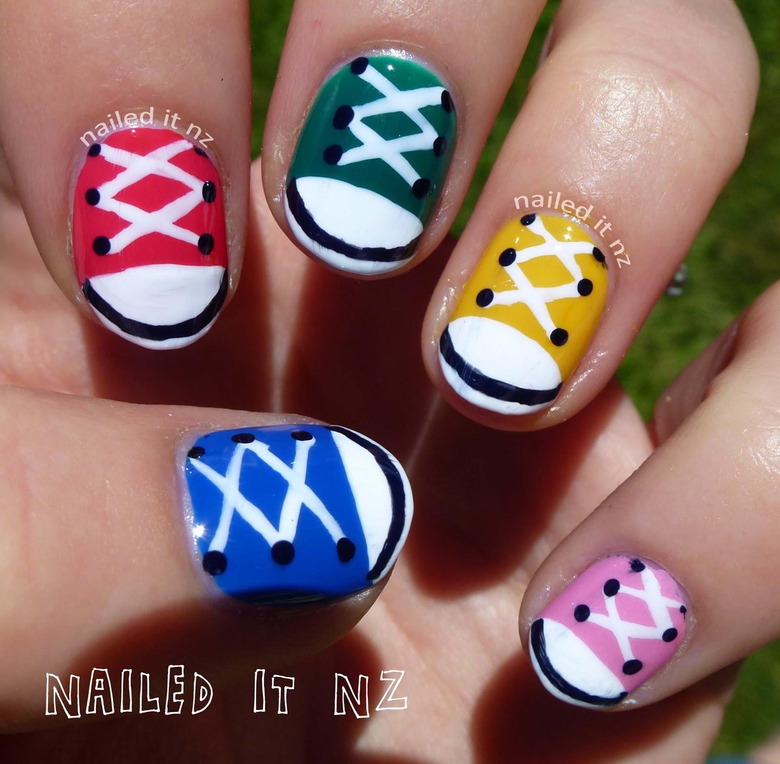 Nail Art For Short Nails 9 Chuck Taylorsshoe Nails