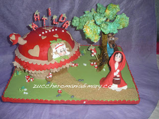 torta compleanno pasta di zucchero fiaba