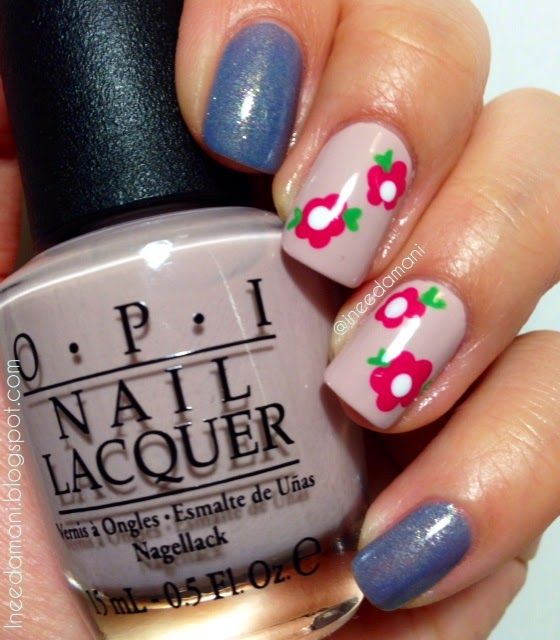 opi don't bossa nova me around simple floral nails