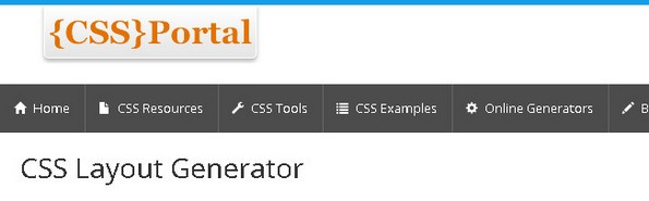 CSS Portal - CSS layout generator