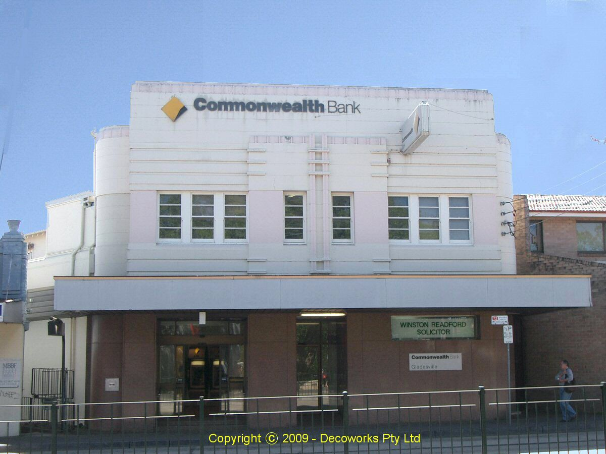 Sydney Art Deco Heritage: Commonwealth Bank Gladesville