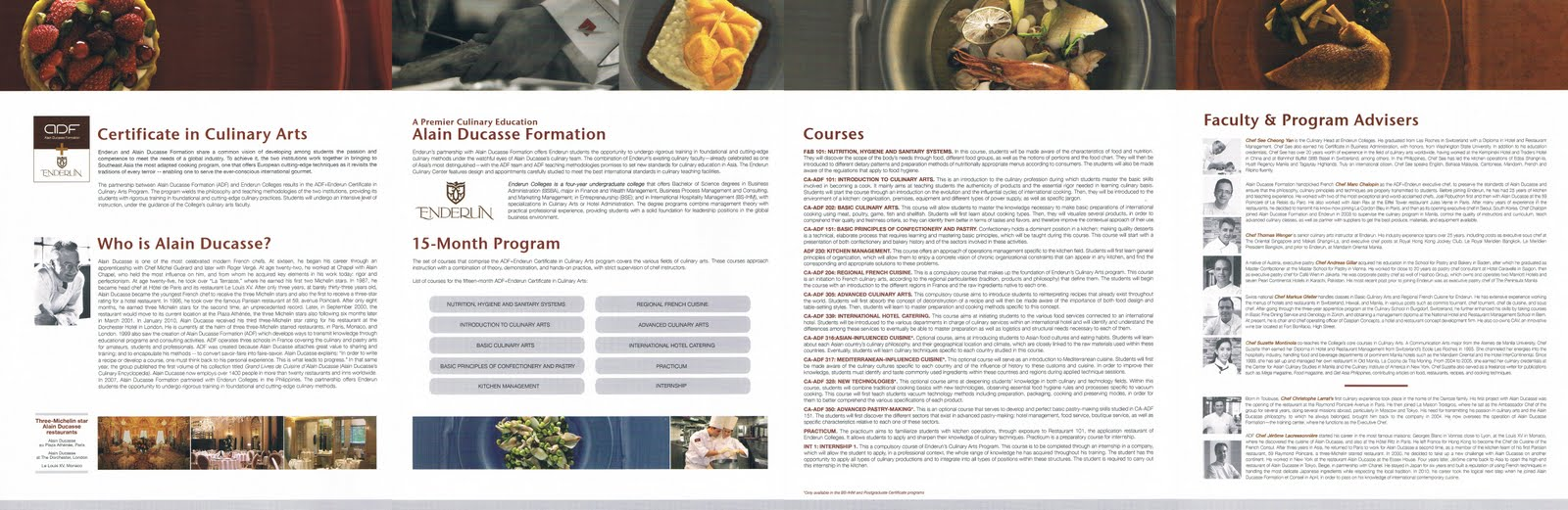 Enderun discover cuisine adfenderuns intensive 15 month certificate in culinary arts program brochure xflitez Image collections