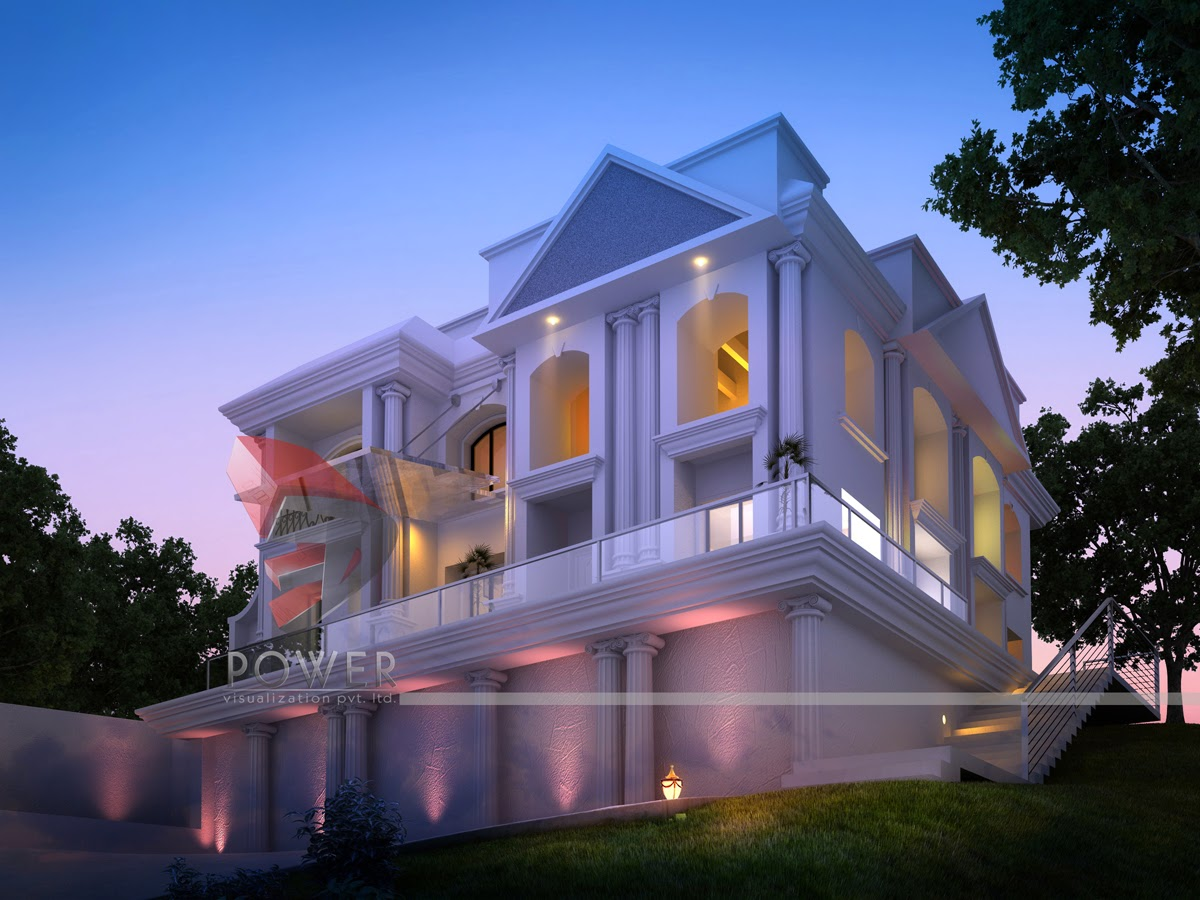 Modern house 3d interior design 3d exterior rendering for Ultra modern exterior design