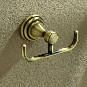 percha baño rustica oro