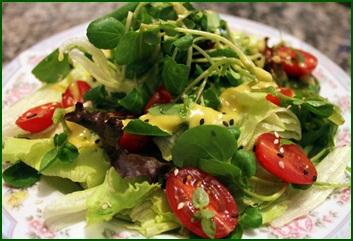 Ingredientes para saladas detox
