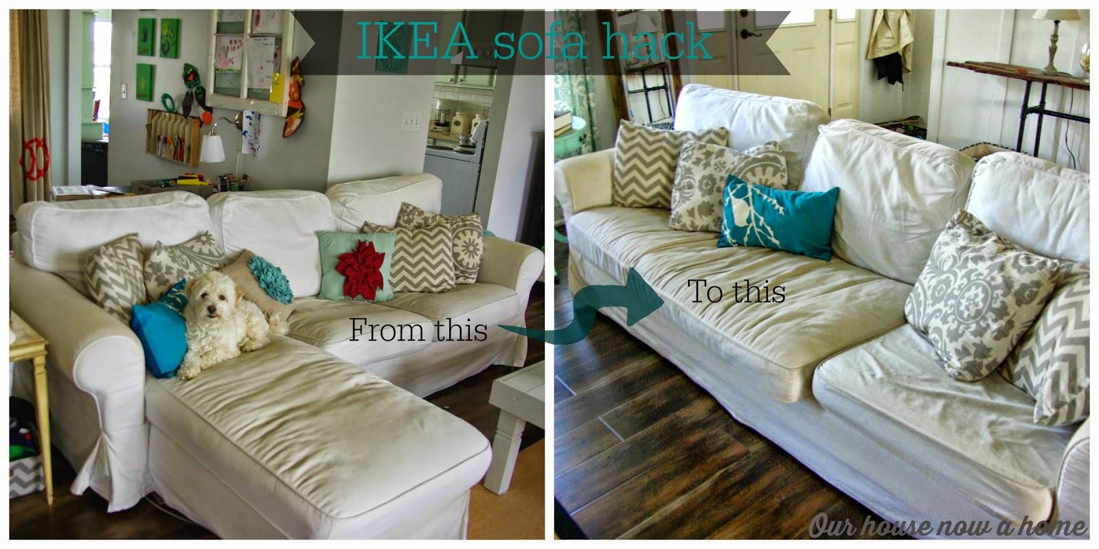Our house now a home IKEA Ektorp sofa hack : ikea2Bhack from ourhousenowahome.com size 1600 x 800 jpeg 251kB