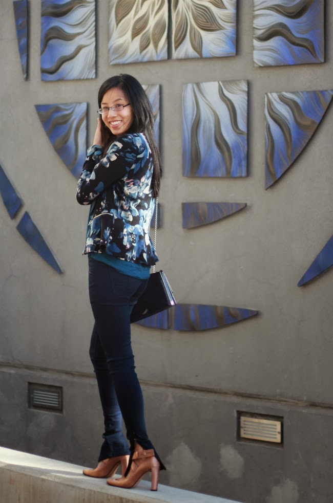 how to wear florals for fall dark patterns prints