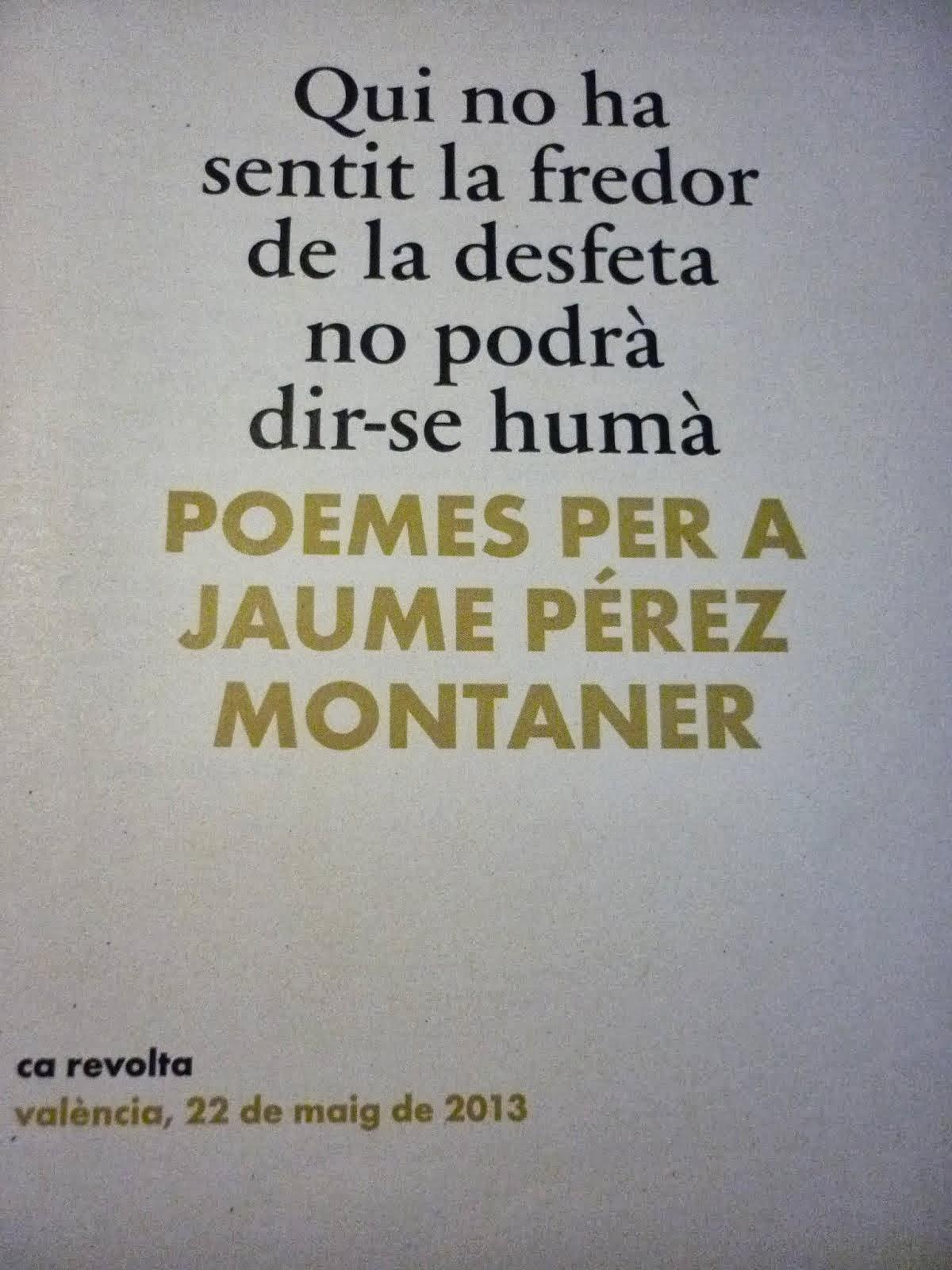 Plaquette Homenatge Ca Revolta