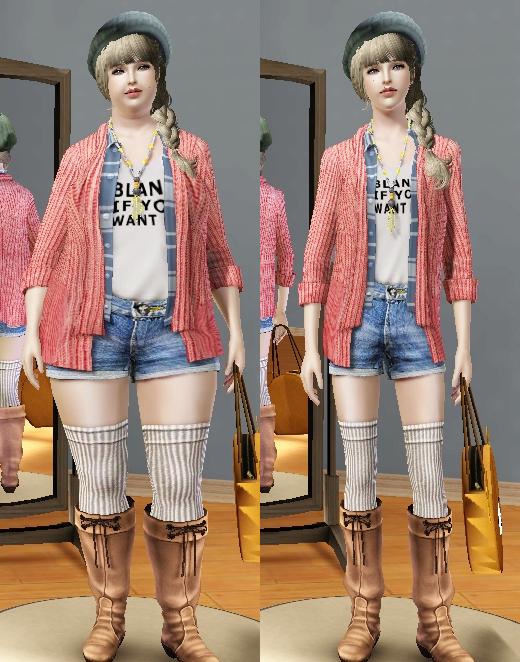 js sims 3 layered cardigan outfit set outerwear js sims