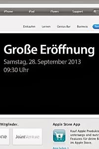 Apple Store Neu in München Eröffnung am 28.09.2013 in OEZ