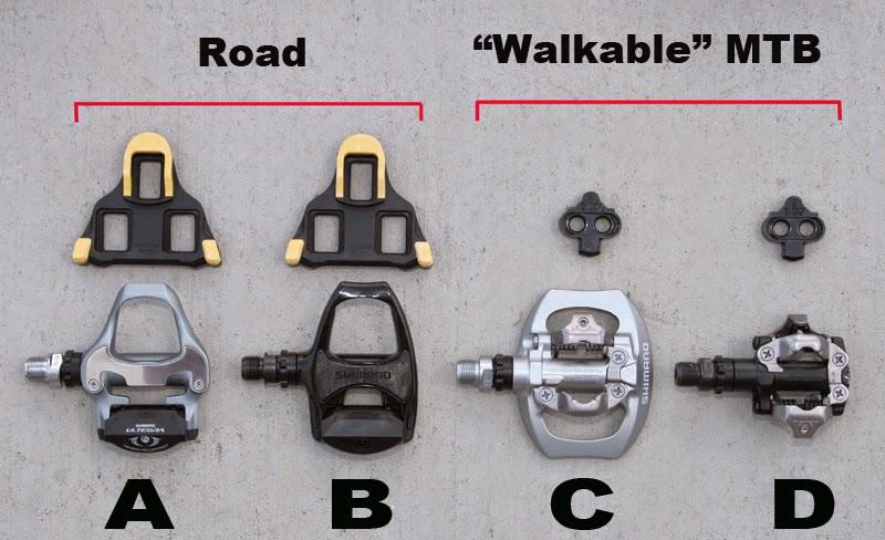 Tipos de calas y pedales cleats Shimano