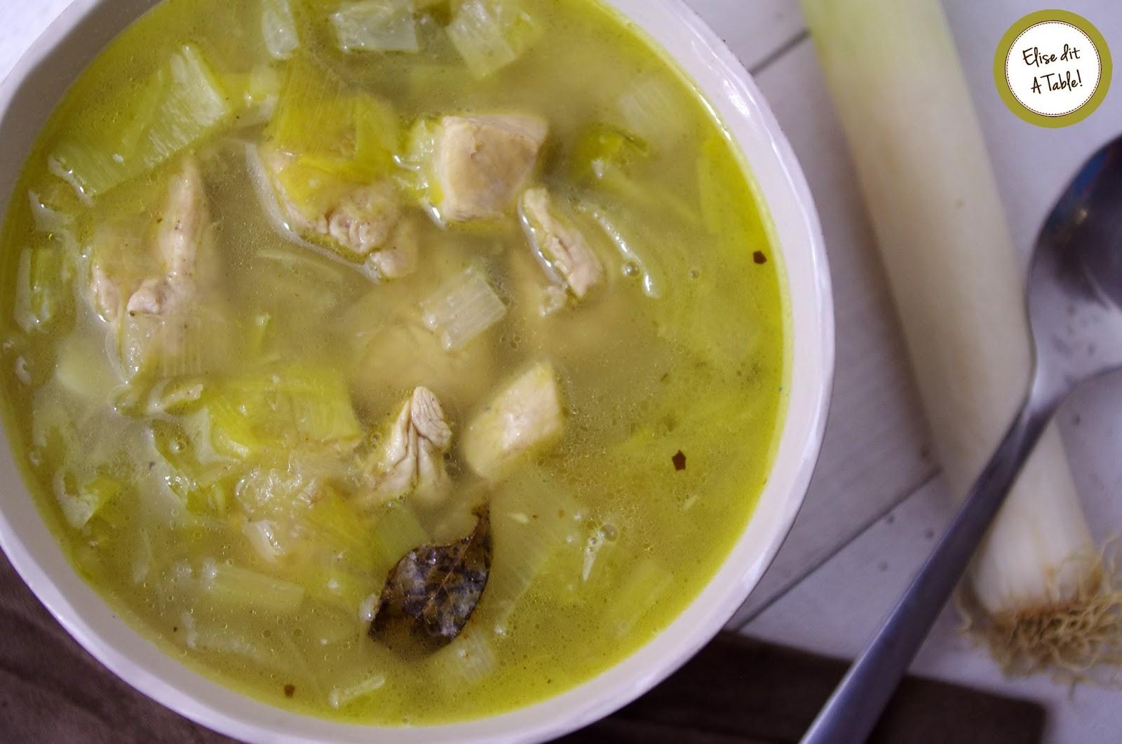 recette Soupe poulet coco curry