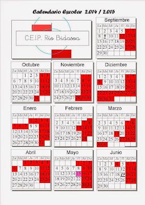 CALENDARIO CURSO 2014-2015