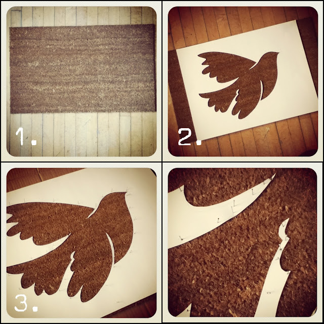 Peace Dove Door Mat DIY