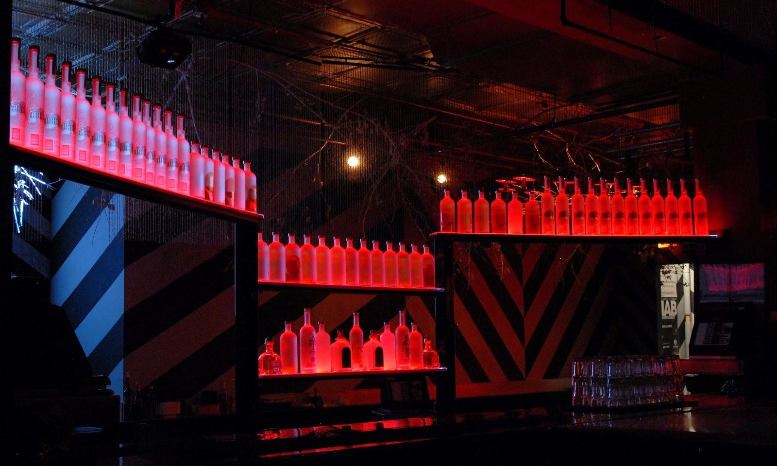 Lighted Bottle Shelves Ideas