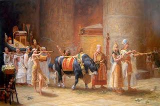 Μωυσής και Ακενατόν - Procession of the Bull Apis, Frederick Bridgman