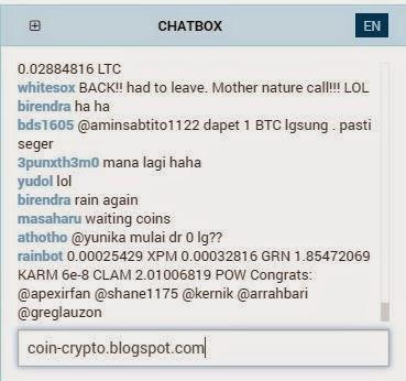 Tampilan Chatbox di Bleutrade