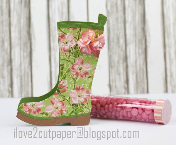 Boot Gift Box, Candy Holder cutting file