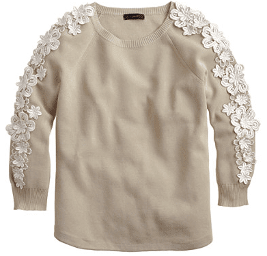 j.crew flower sleeve sweater