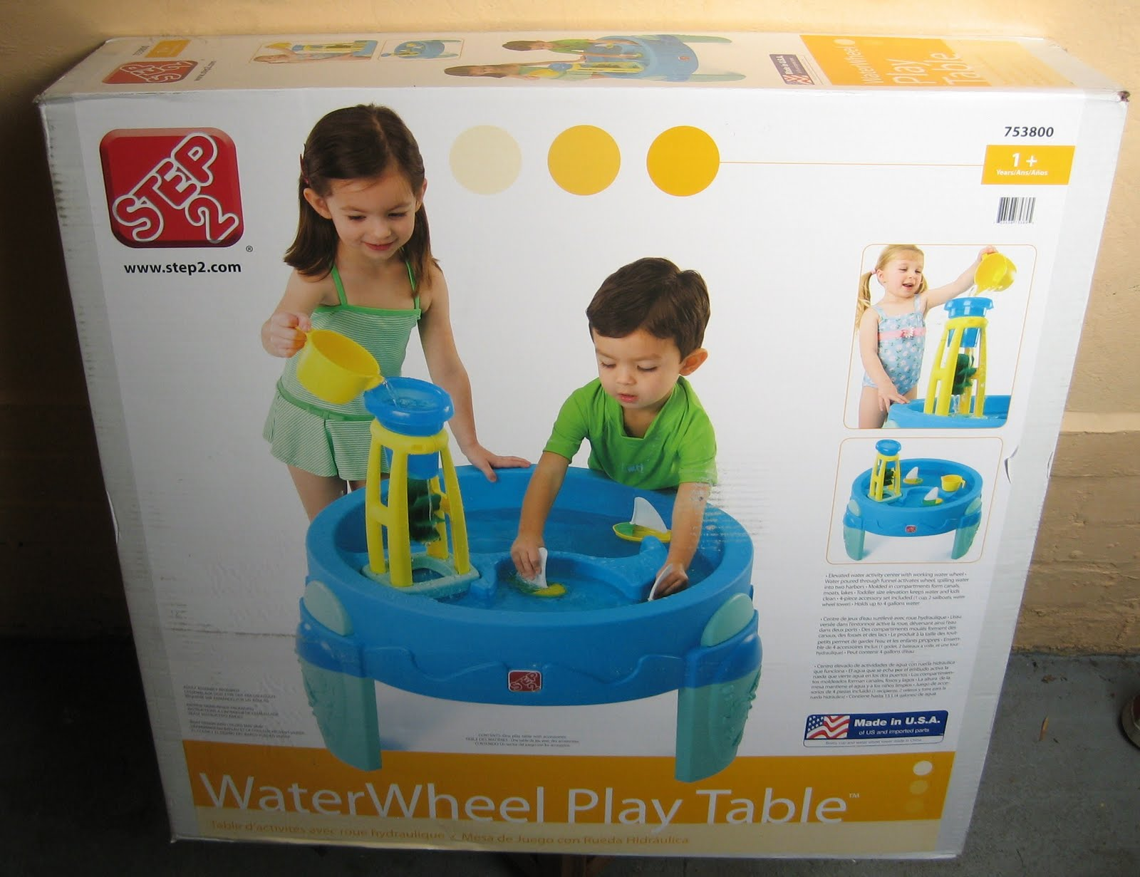 Cardboard Water Wheel Water And a Cardboard Box