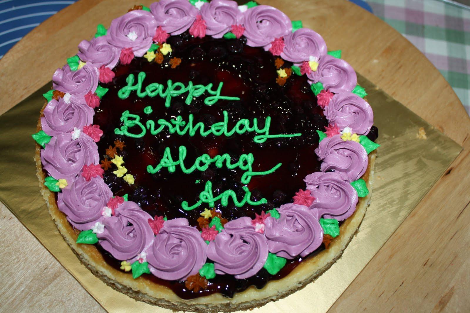 cek mek zue blueberry cheesecake with purple buttercream