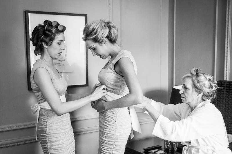 Morning preparations, bridal party, bridesmaids, hair and make up, bridesmaids dresses