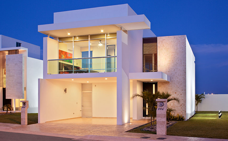 Fachadas minimalistas fachada minimalista lujosa en for Departamentos minimalistas fachadas