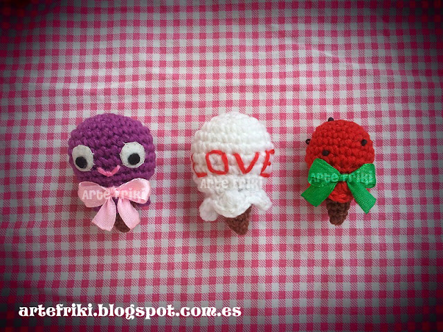 mini helados amigurumis crochet ganchillo ice creams