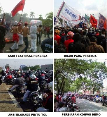 Aksi Demo Serikat Pekerja