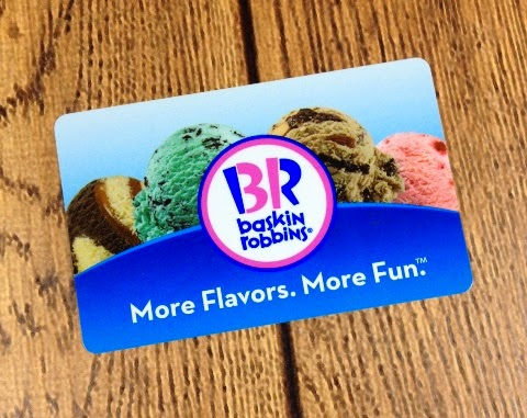 Giveaway! Baskin-Robbins Ice Cream Gift Card ~ Planet Weidknecht