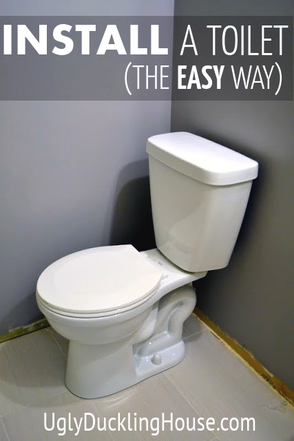 easy toilet install